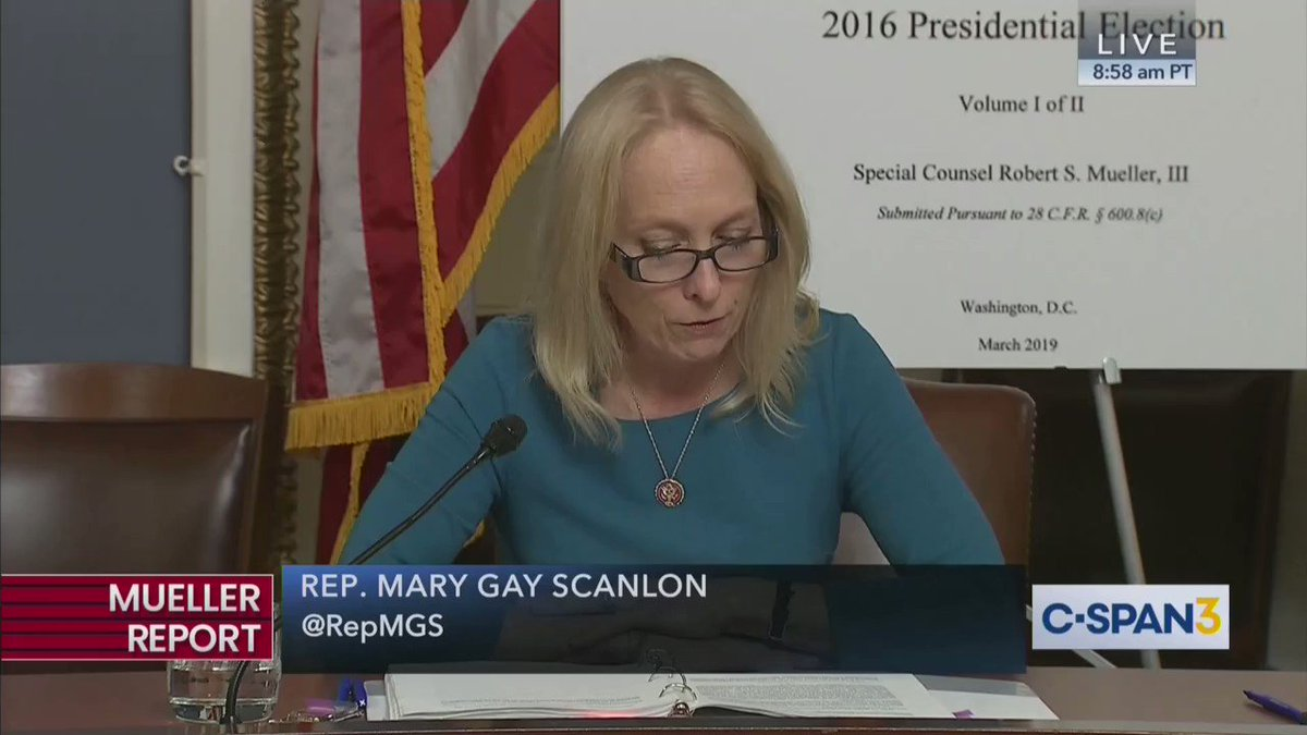 Watch #DemocratsReadTheMuellerReport and discover there was #NoCollusion! @RepMGS: the investigation did not establish that members of the Trump Campaign conspired or coordinated with the Russian government in its election interference activities. Thank you Mary!