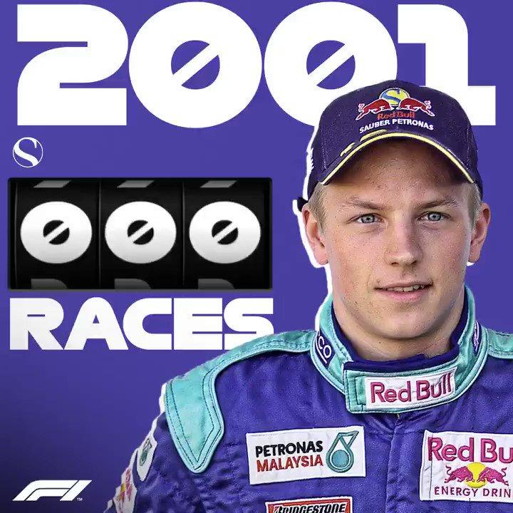 En el #MonacoGP, Kimi cumple 300 carreras. Un piloto que no olvidará nadie por su personalidad. Enhorabuena al finlandés por su exitosa  carrera #F1 #NoticiasEspF1Team #AlfaRomeoEspF1Team #MonacoEspF1Team