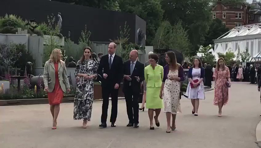 Kate Middleton Looks Lovely in a Floral Erdem Dress at the Chelsea Flower Show