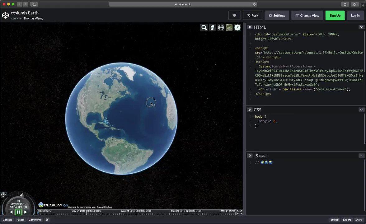 Earth Animation Codepen