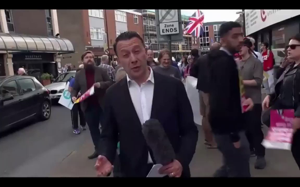 The #brexitparty is running scared of Channel 4 news & serious scrutiny. #milkshake #C4News #PeoplesVote #FinalSay #FundingFarage