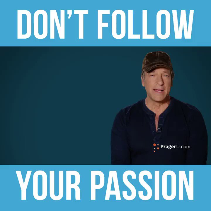 Image for the Tweet beginning: Don't follow your passion.Follow opportunity,