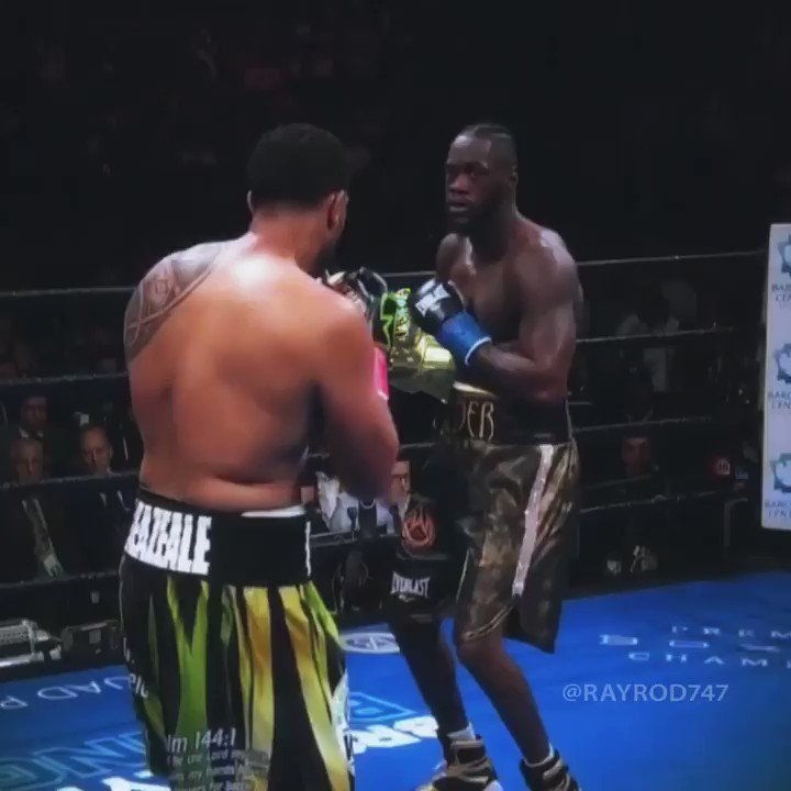 Deontay Wilder with the Infinity Knockout 🥊