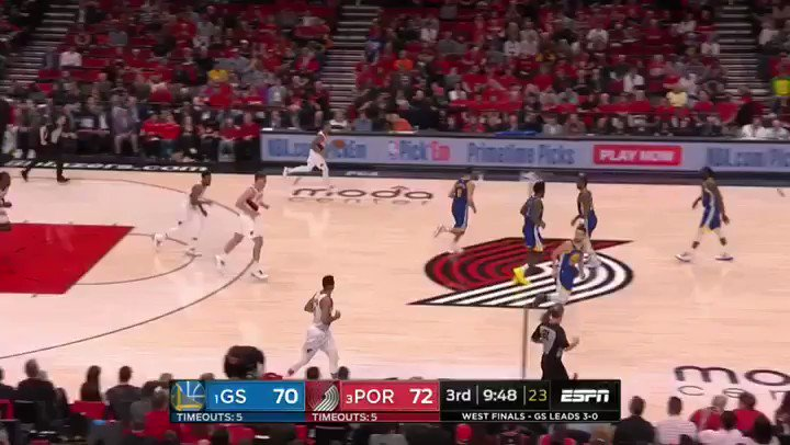 Dame DROPS Alfonzo to the floor and DRILLS THE 3!