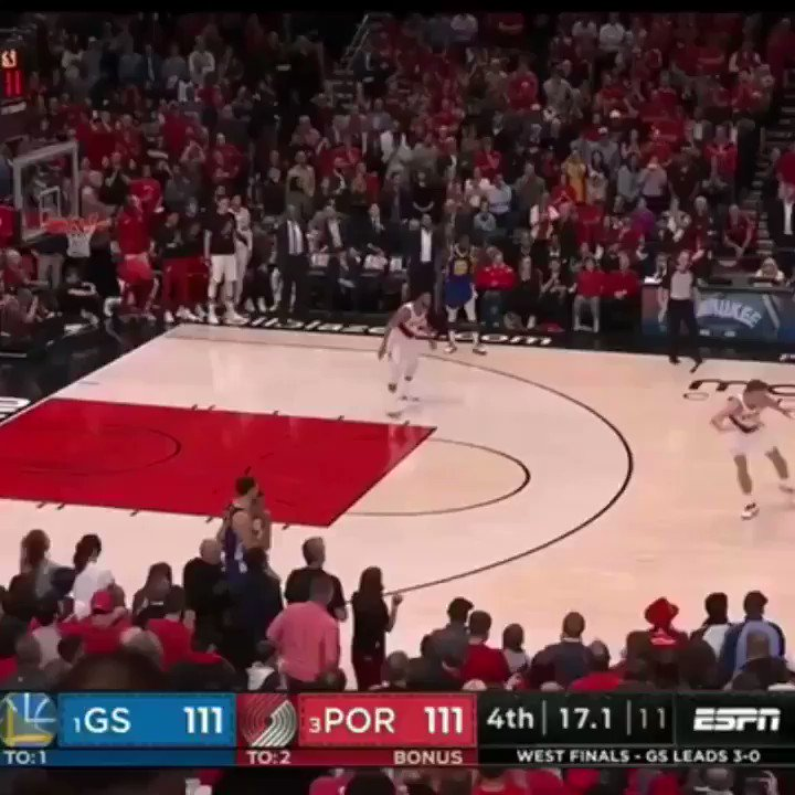 Stephen Curry HITS THE GAME WINNER... but gets called for the travel.