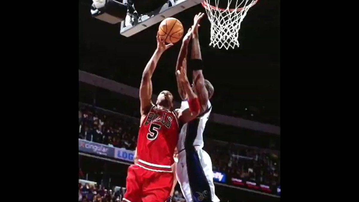 38 year old MJ with the demoralizing 2 hand block on Ron Mercer. #mjmondays