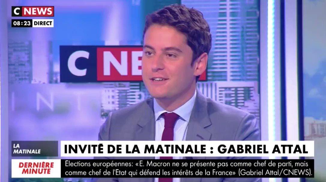 Gabriel Attal's photo on referendum
