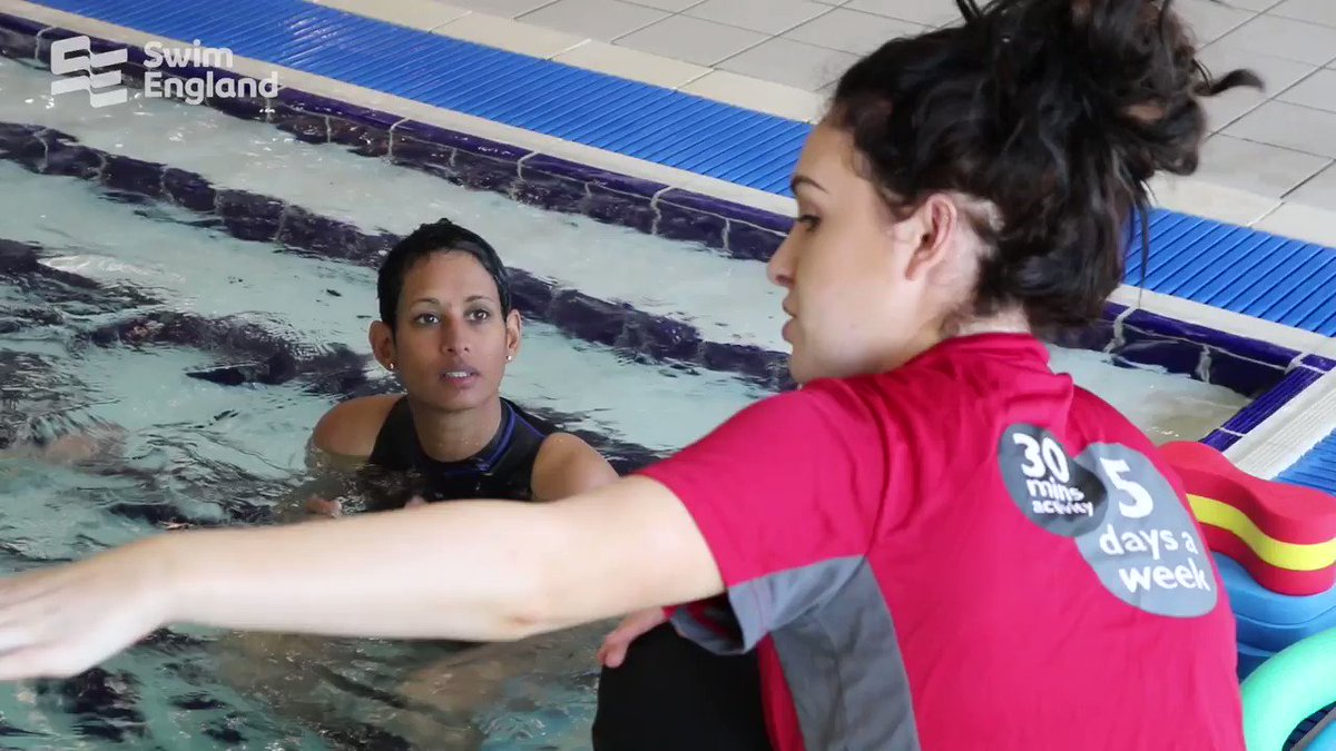 Journalist and @BBCBreakfast presenter Naga Munchetty (@BBCNaga) and her husband, James, began swimming lessons with @EveryoneActive today! We'll reflect on the first steps in their journey next week !For #LearnToSwim tips and advice, click here http://bit.ly/2WnzDcM