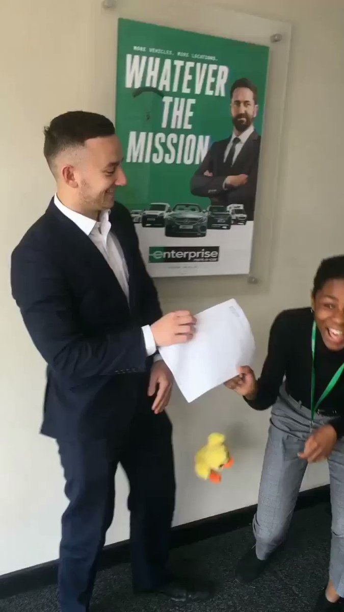 Kyle and Favour have to duck from all these appreciations #U4E3 #Service #OfficeDuck @SteveDavo84