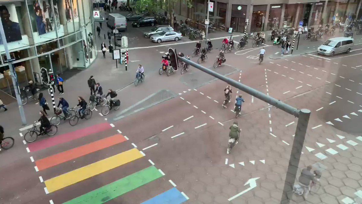 Shooting bike footage from Utrecht from the best seat in the house! Wow!!