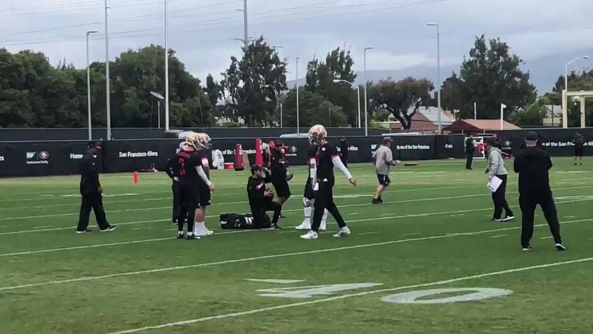 #49ers OTA practice underway, Jimmy Garoppolo leading the way during QB drills