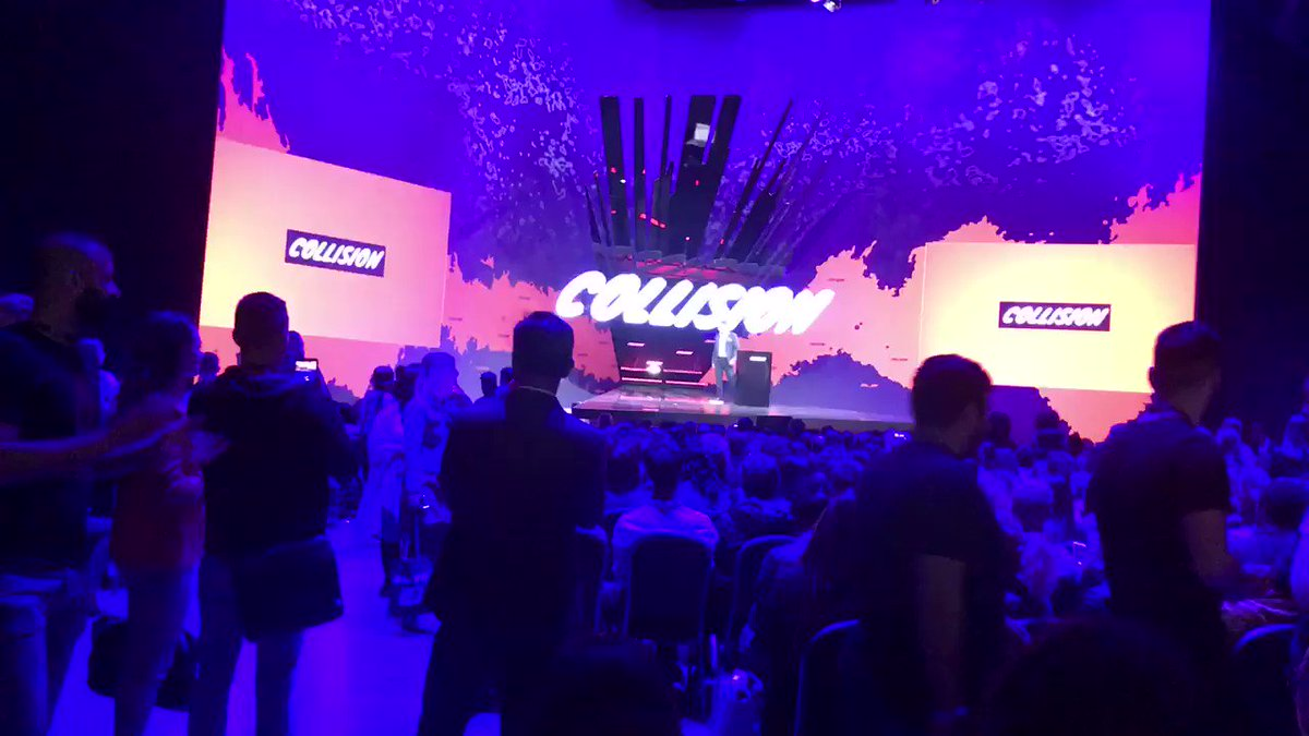 The crowd boos as Premier @fordnation takes the stage at #CollisionConf. This is the 1st full day of the massive tech conference & industry leaders are unhappy with his government's decision to cut $24 million in funding for artificial intelligence research. #onpoli @CollisionHQ
