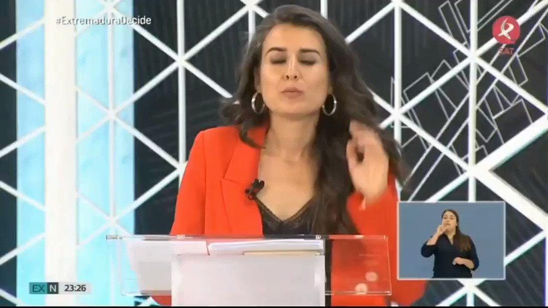 Minuto de oro de nuestra candidata a la Presidencia de la Junta, @Irenirima en #ExtremaduraDecide 👇 Vota con ilusión y no con miedo. Vota #PorUnFuturoAquí porque Unidas Por #Extremadura podemos cambiarlo todo Vota #UnidasPorExtremadura