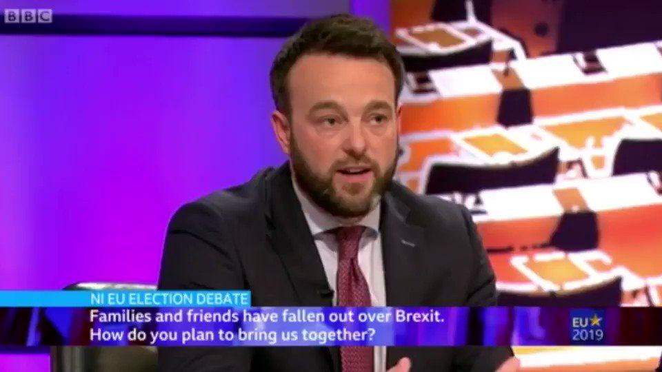 This place is divided enough. As politicians we have a duty to bring people together. Europe is the best example of a peace process in the history of this planet. Thats why it inspired Hume. Thats why its in our political DNA @columeastwood #EastwoodForEurope