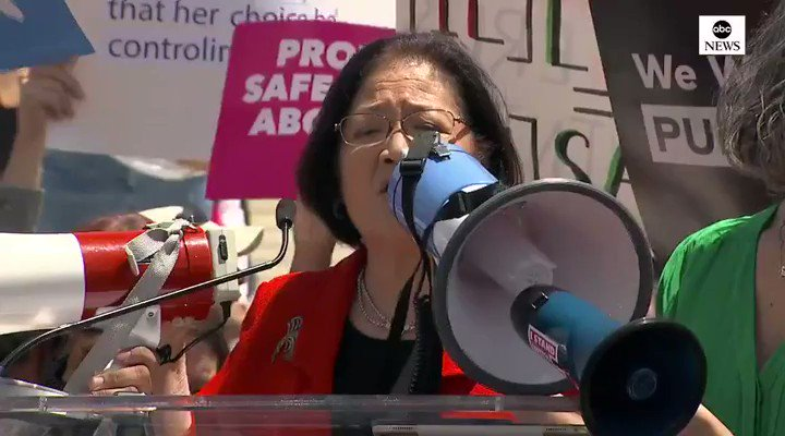 Sen. Mazie Hirono (D-HI) says she has gone to middle schools to tell little girls that Republicans are trying to take their abortion rights away