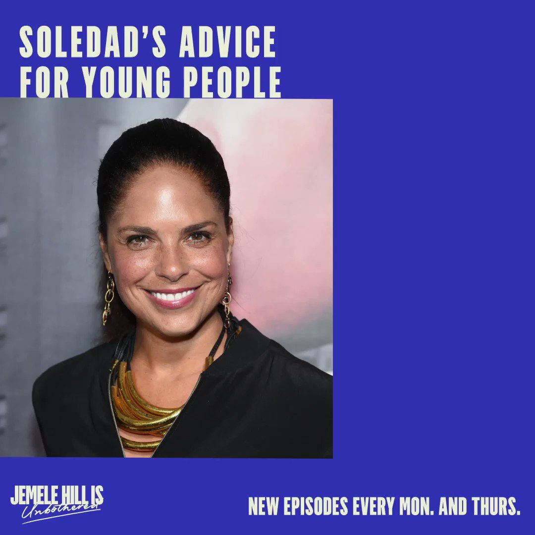 My guest on the latest episode of Jemele Hill Is UnBothered is @soledadobrien, who has this advice for young people: FULL PODCAST link —> open.spotify.com/episode/4Q7Ox4…