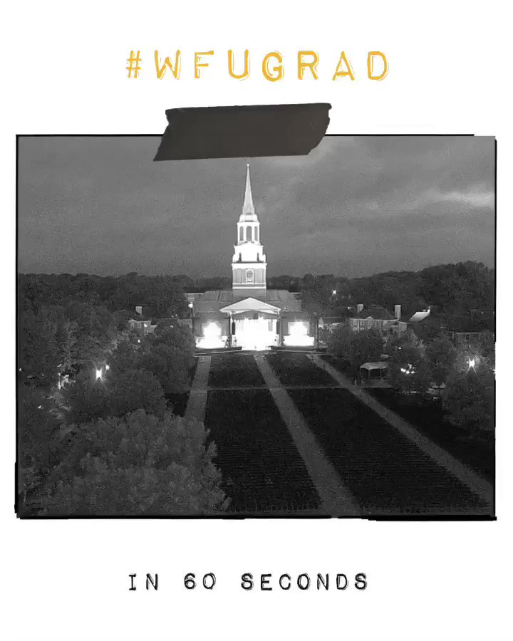 In the blink of an eye. #WFUGrad 🎓💛