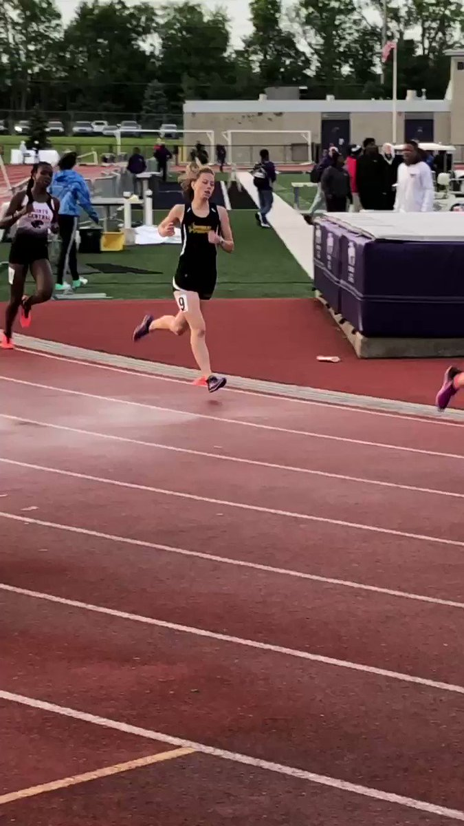 Senior Courtney Merrill wrapped up an outstanding high school career tonight by finishing 9th in the 800 meter run at the Ben Davis regional. Courtney will be sorely missed next year. Great way finish @cmerrill_19 #Squad #Together