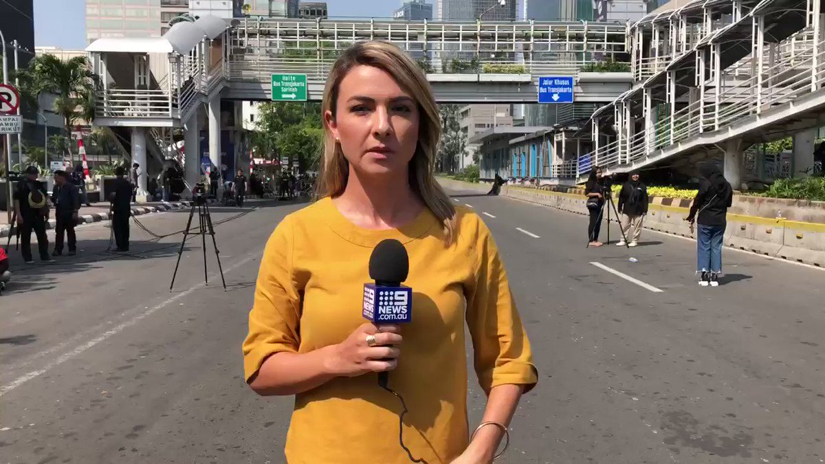 Day 2 and Jakarta is a city under siege by violent rioters @9NewsAUS
