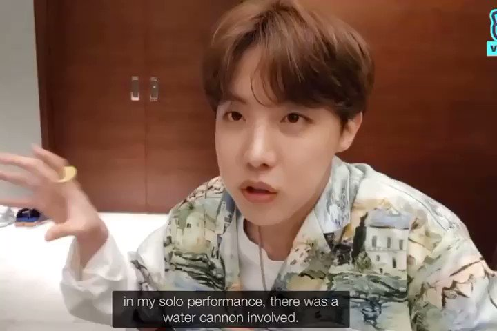 """Hoseok really wanted to look like """"Poseidon"""" and he did that."""