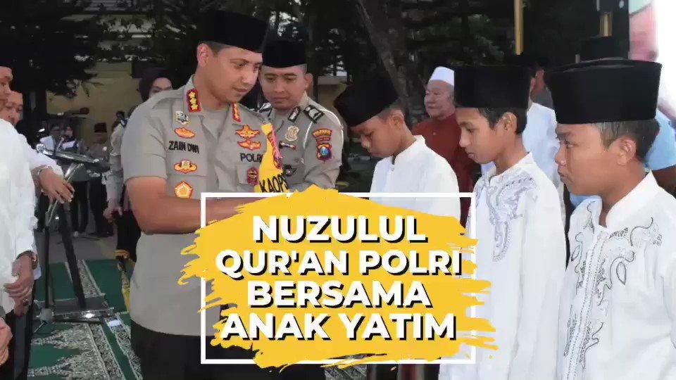 Polresta Sidoarjo, Jawa Timur menggelar acara Nuzulul Qur'an bersama anak-anak yatim di Mapolresta Sidoarjo, Selasa (21/5)..BERSAMA POLRI CIPTAKAN SITUASI KAMTIBMAS YANG AMAN DAN DAMAI.#PengabdianPolriUntukNegeri #PolriPromoter#Polrihumanis