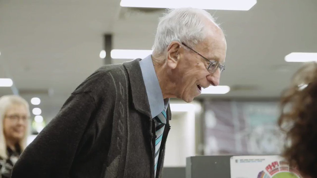 Image for the Tweet beginning: Long-time Port Adelaide supporter Warwick