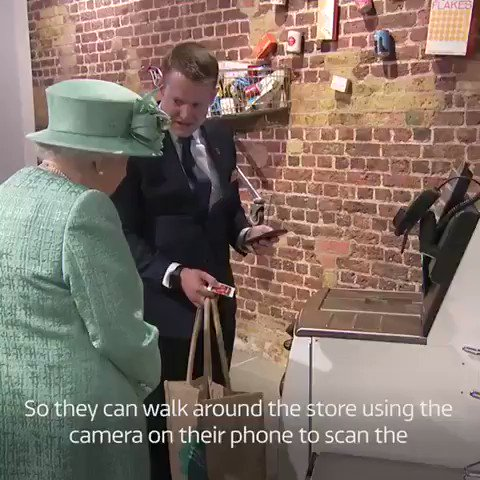 Queen Elizabeth asks if shoppers 'cheat' at self-service checkouts