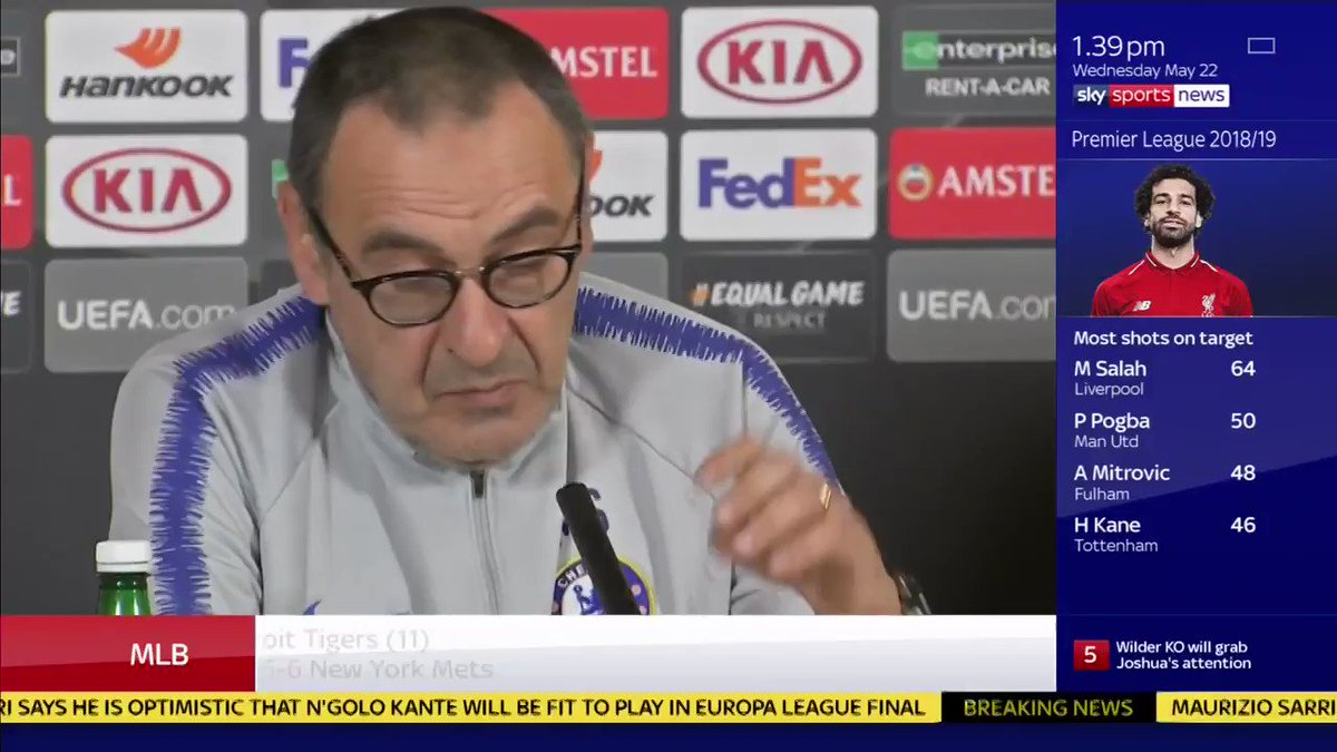I want to respect his decision. I dont know Maurizio Sarri has the latest on Eden Hazards Chelsea future