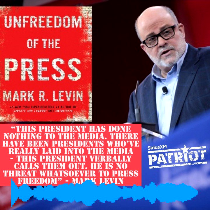 .@marklevinshow calls out the #mainstreammedia for complaining about @POTUS @realDonaldTrump calling them the enemy of the people on @BreitbartNews Daily on @SiriusXMPatriot #UnfreedomofthePress