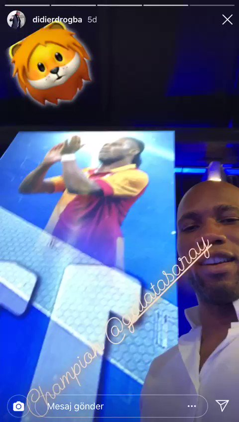 "Image for the Tweet beginning: Didier Drogba: ""Galatasaray şampiyon, Fatih"