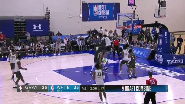 Back home which means I have time to revisit film from the NBA Combine. Thought Darius Bazley helped himself as much as anyone considering the circumstances and the fact that he's still only 18. Body has improved and talent really popped on both ends. Looked like a 1st round pick