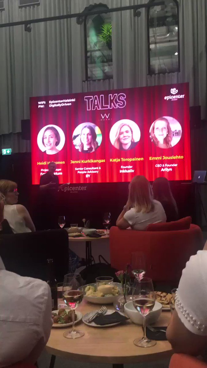 Because we need more role models for women and diversity in tech, more of these sort of events should happen! Thanks Alisa Mick  #northmix for setting this up! #WLOUNGE #wloungetalks #finland #diversity #inclusion #Empowerment