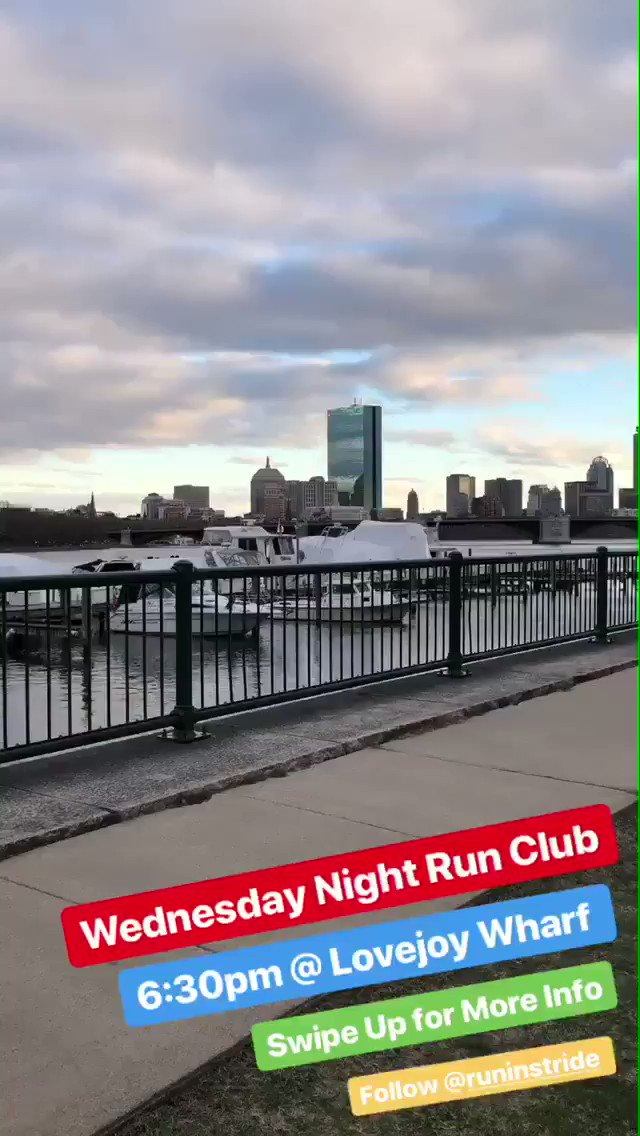 Tonight: Stride for Stride + MyStryde Run Club every Wednesday from Lovejoy Wharf. 6:30pm. All paces. Free.   Post-run beers at Night Shift and bag-check at Row House Rowing Studio.   Route Info: https://www.strideforstride.com/run-club