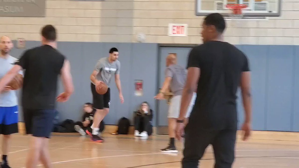 Goga Bitadze getting ready for his Pro Day in NYC tomorrow.