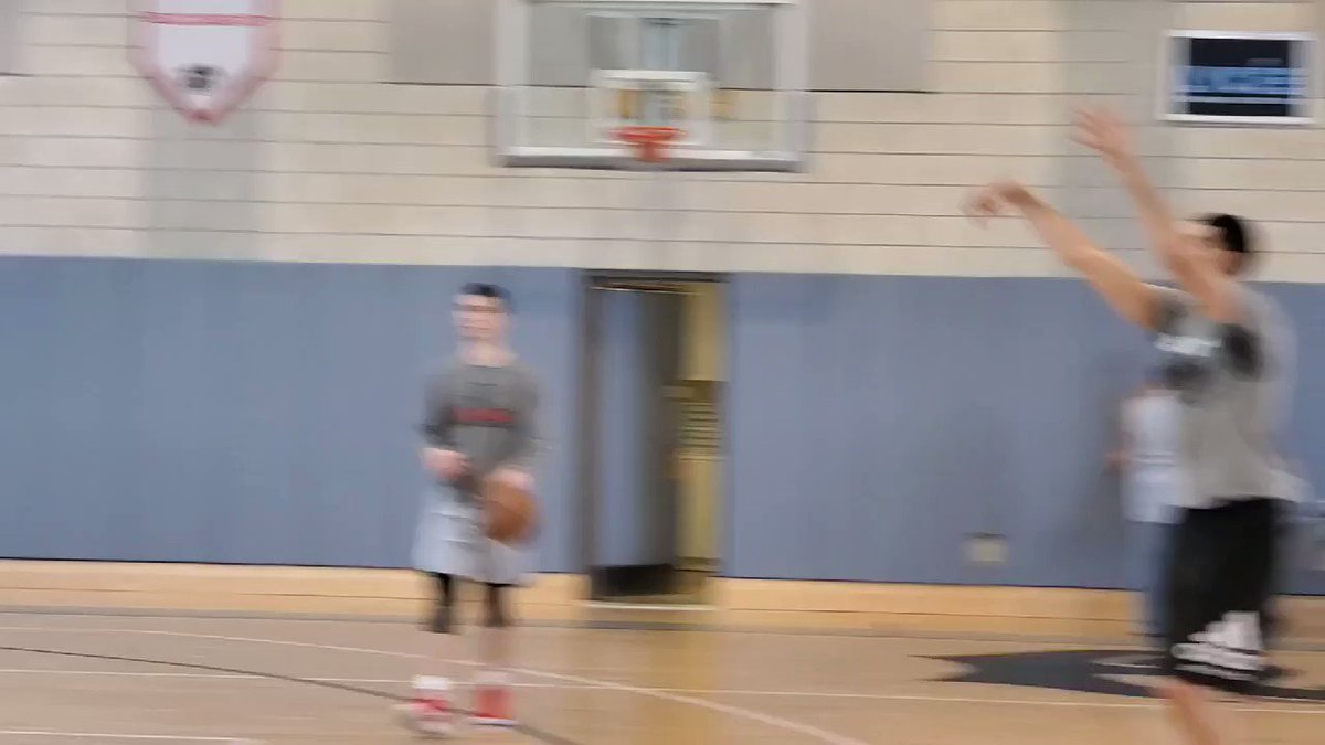 Goga Bitadze is going to open up some eyes tomorrow at his Pro Day if he shoots it like this in the star shooting drill. Reminder: he's 7-feet tall.
