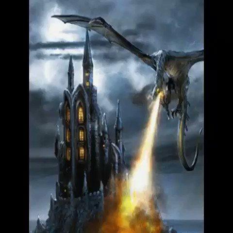 гифки с драконами и замками гостей
