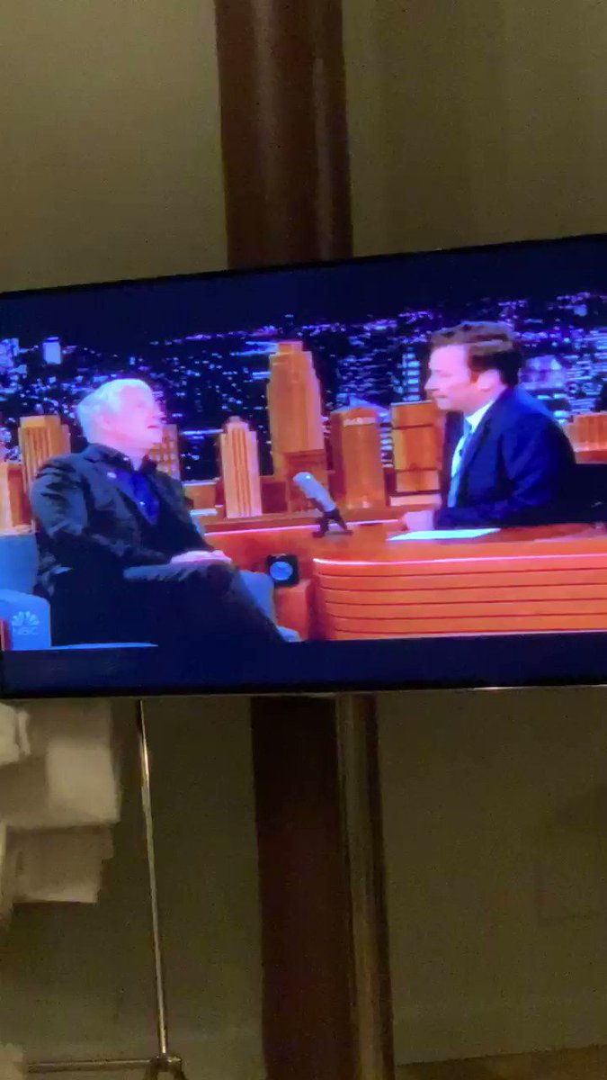 Richard Curtis, founder of @RedNoseDayUSA, explaining to @jimmyfallon what happens when you spend $2 on a red nose at @Walgreens. Happy Red Nose Day America. donation.rednoseday.org