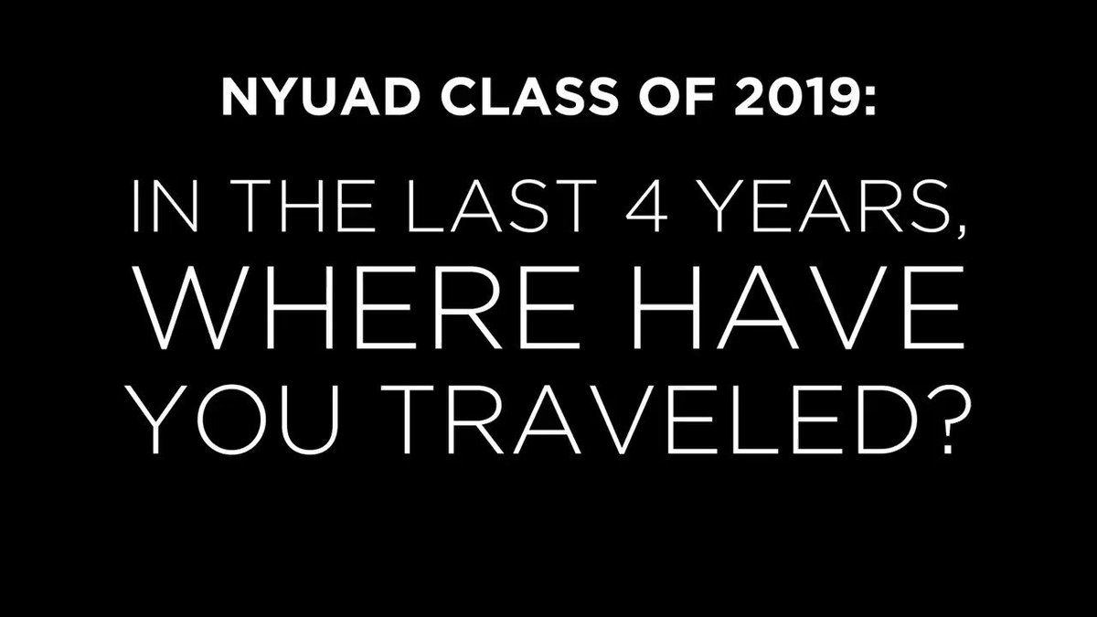 """This is the fun part where we get to list countries isn't it? Yesssss!!"" #NYUAD2019 #myNYUAD #congratagradNYU"