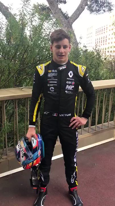 Fastest man on track in free practice... Just like one year ago: @VictorMartinsFR! #MonacoGP #FormulaRenault