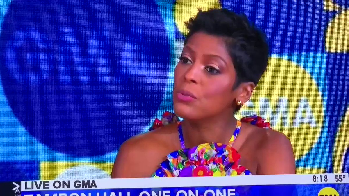 . @tamronhall is back on live, morning TV for the first time since leaving NBC two and a half years ago. She discussed her People Magazine cover and her daytime talk show which premieres this fall.