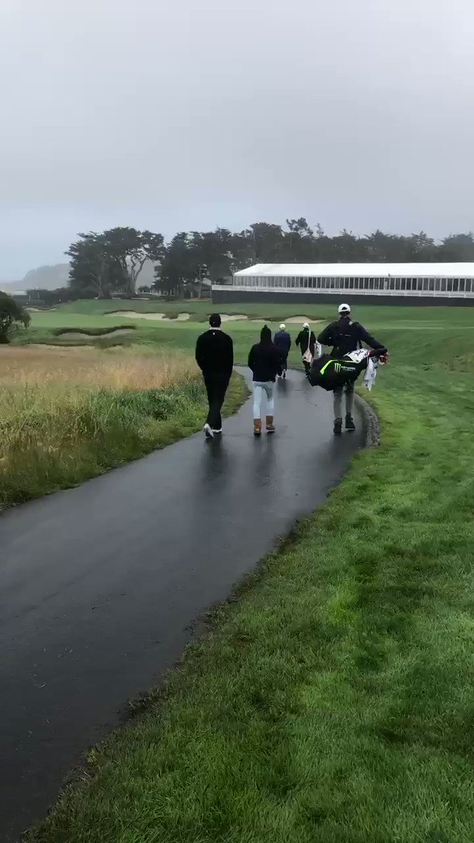 Tiger Woods And His Girlfriend Are At Pebble Beach Today 3 Weeks Before The U.S. Open