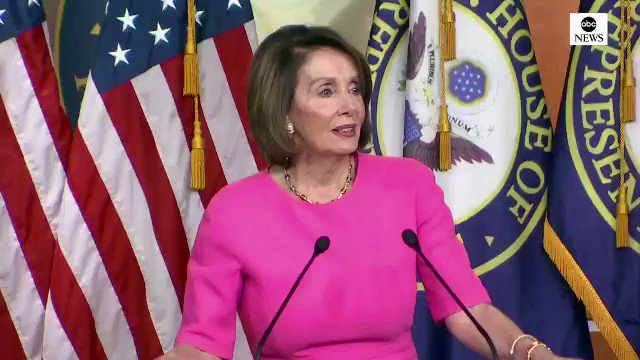 """Nancy Pelosi: """"I pray for the President of the United States. I wish that his family or his administration or his staff would have an intervention for the good of the country."""" Via ABC"""