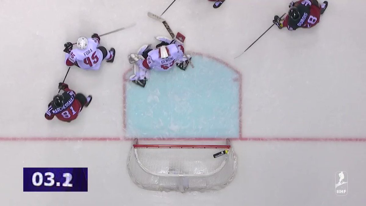 О боги! Канада летела Швейцарии весь матч, но сумела сравнять за 0,4 секунды до финальной сирены! Обалдеть! Овертайм!