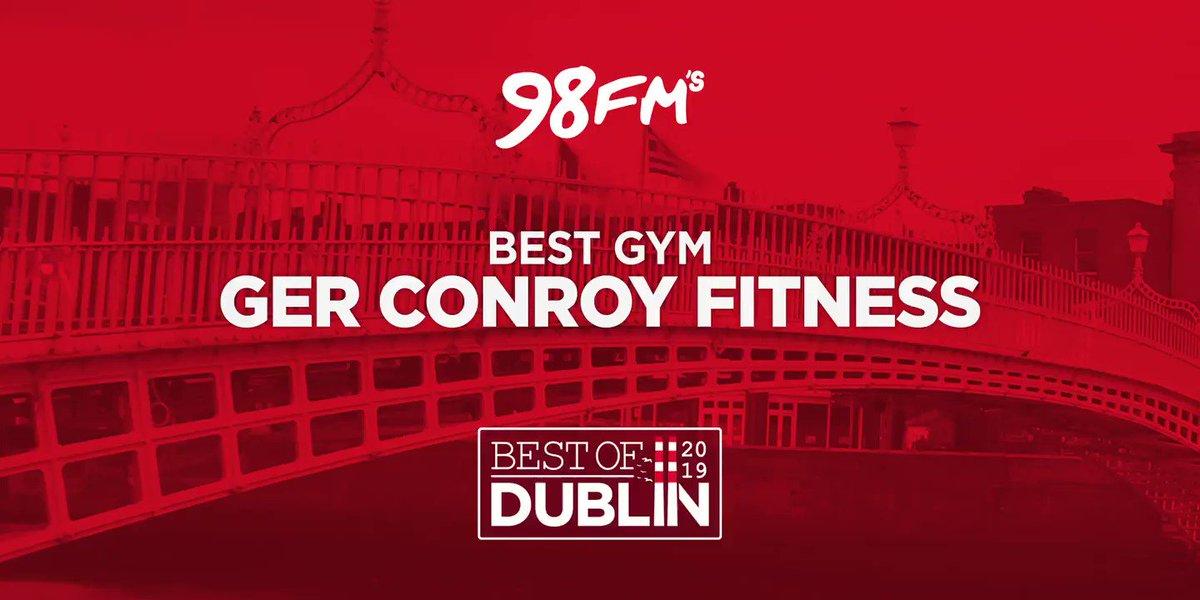 . @GerConroyFit has won the award for Best Gym #98FMBESTOFDUBLIN 💪
