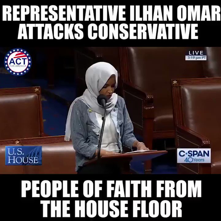Ilhan Omar attacks the beliefs of others again...