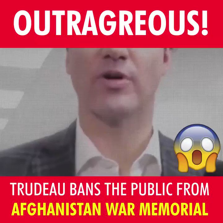 Let's make sure Canadians hear about @JustinTrudeau's latest insult to our troops. This monument to our fallen soldiers should be open to all Canadians. #LestWeForget