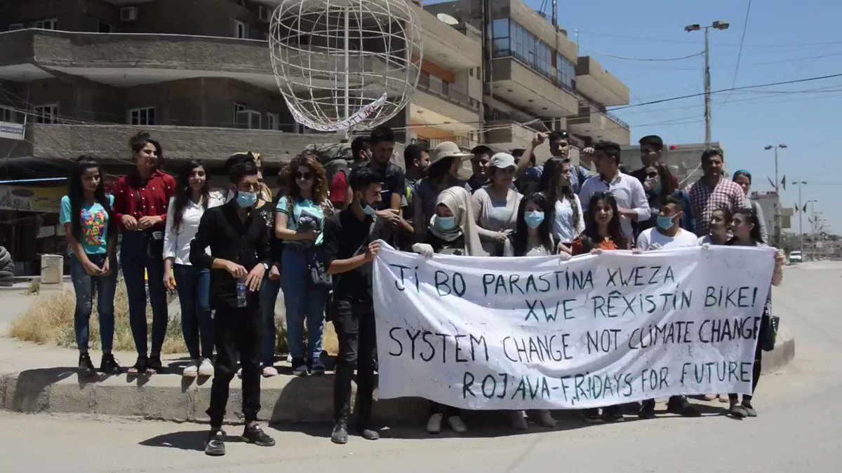 Image for the Tweet beginning: Fridays For Future Rojava!!!! Around