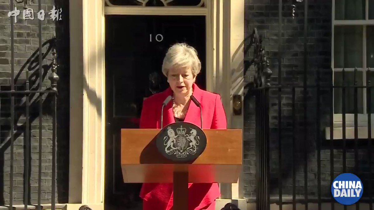 #Video: Theresa May says she'll quit as UK Conservative leader on June 7