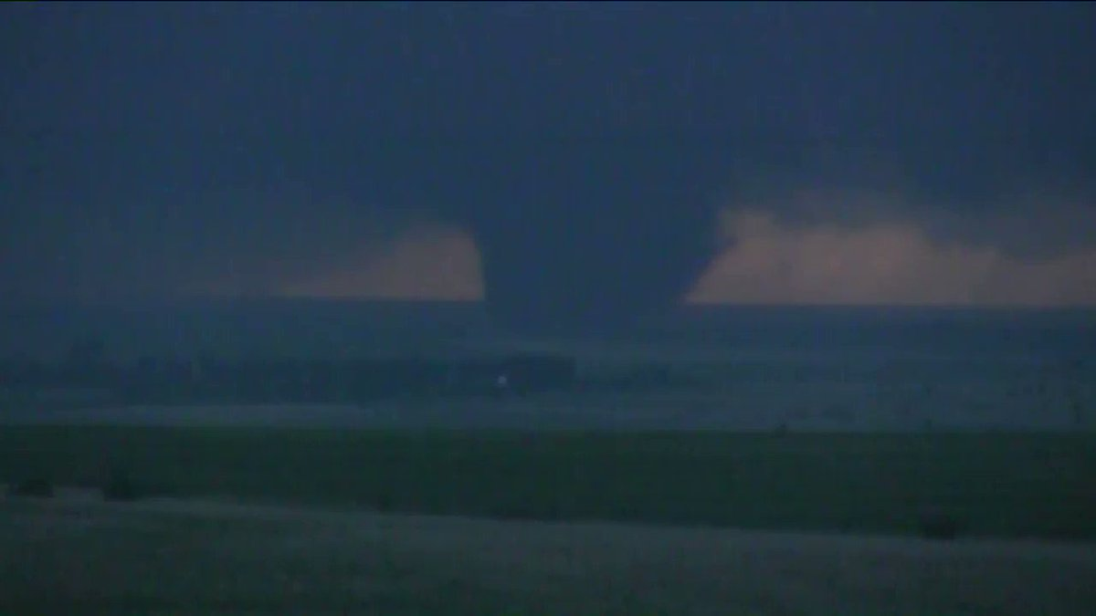 Here's another video of the violent, wedge tornado near Catesby, Oklahoma on 5-23-19. Our storm tracker @JEROMYCARTER1 captured this intense video, aired live on @kfor yesterday evening. #okwx