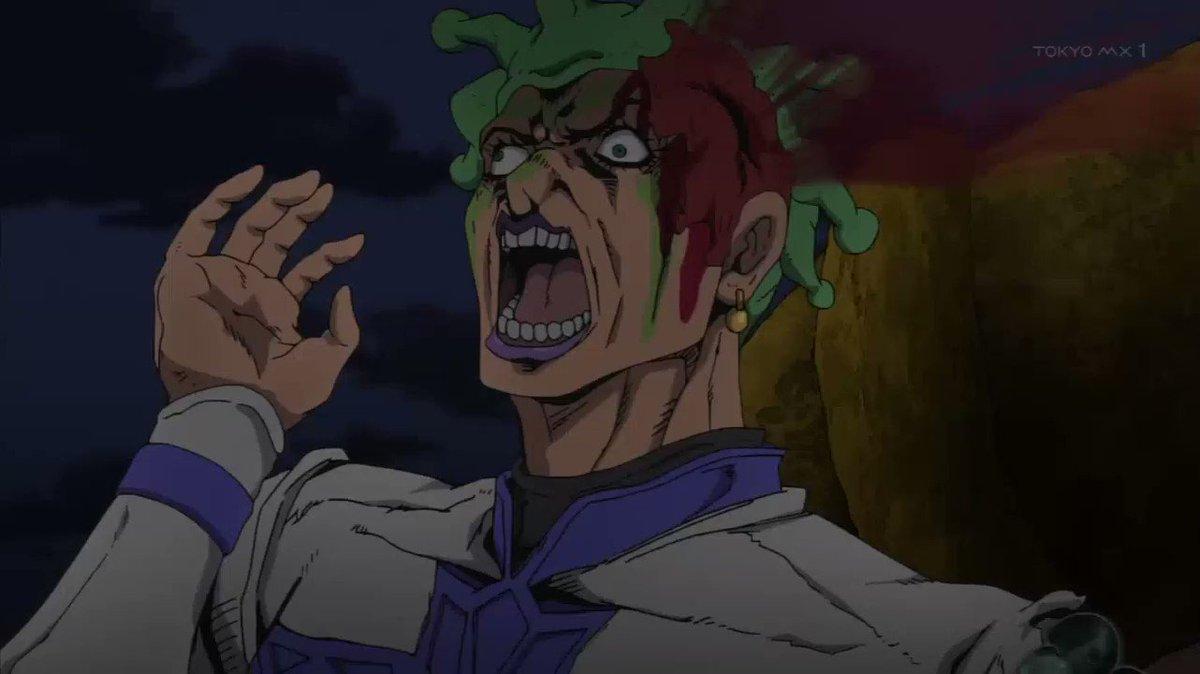 #jojo_anime  #ジョジョ #黄金の風  #ventoaureo ジョルノ君のガチギレ無駄無駄ラッシュシーン燃えるゴミは月・水・金に捨てましょう